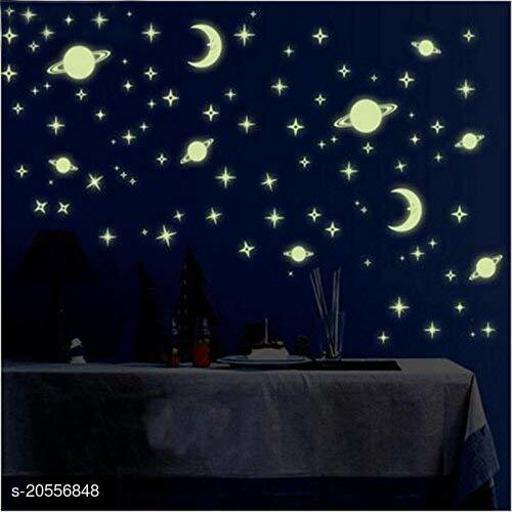 Atulya Arts Florucent Night Glowing Radium Stickers, Solar System