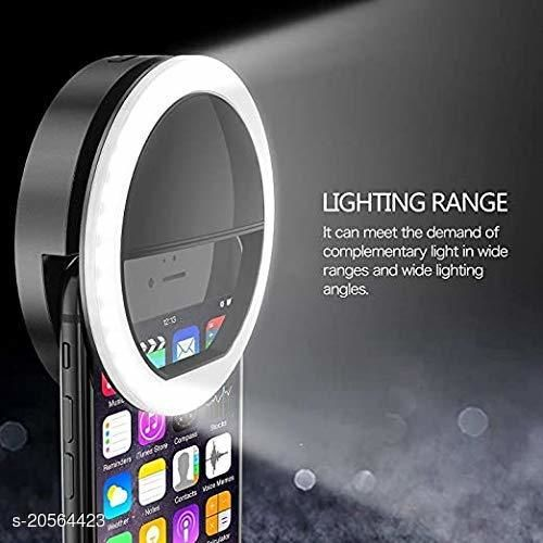 Soft White Color Selfie Ring Light with 3 Modes and 36 LED for Mobile Phone Photos,Camera Photography,Video Photo Shoot Flash (Random Colour)