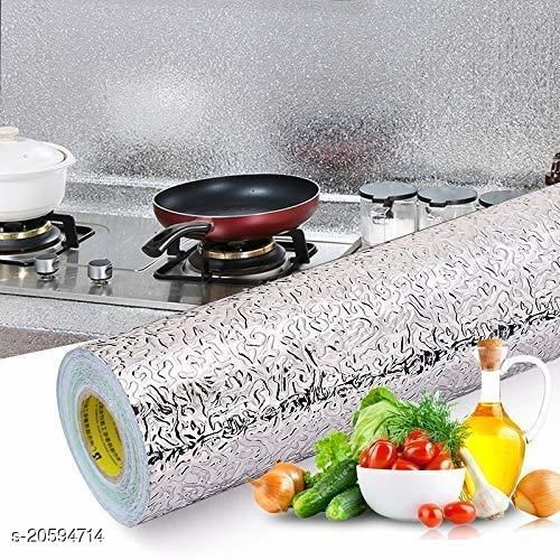 Kitchen Waterproof Self-Adhesive Backsplash Wallpaper Stickers, Aluminum Foil Stickers Oil Proof Waterproof Kitchen Stove Sticker