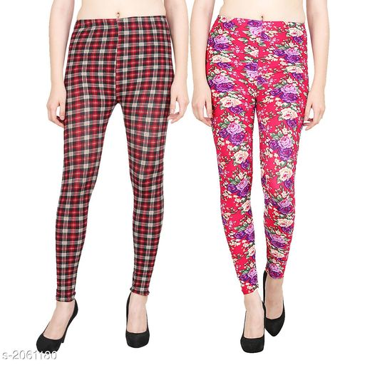 Jeggings Stylish Polyester Women's Jeggings ( Pack Of 2 )  *Fabric* Polyester  *Size* S- 28 in, M - 30 in, L - 32 in, XL - 34 in, XXL - 36 in  *Length* Up To 39 in  *Type* Stitched  *Description* It Has 2 Pieces Of Women's Jeggings  *Work* Jegging 1 - Checkered, Jegging 2 - Printed  *Sizes Available* S, M, L, XL, XXL *    Catalog Name: Aiyra Stylish Polyester Women's Jeggings Vol 3 CatalogID_272851 C79-SC1033 Code: 024-2061180-