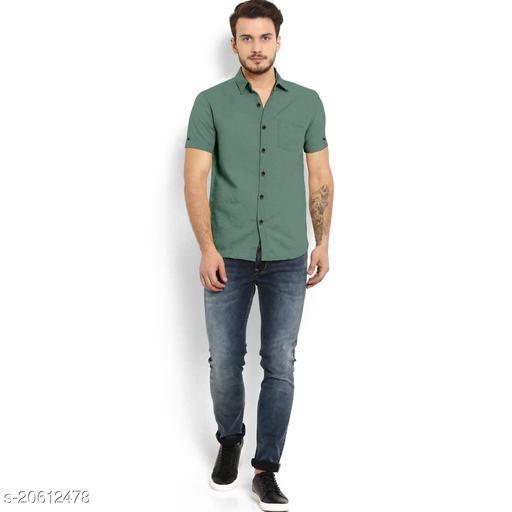 Mens Cotton Half Sleeves Fomal Shirt