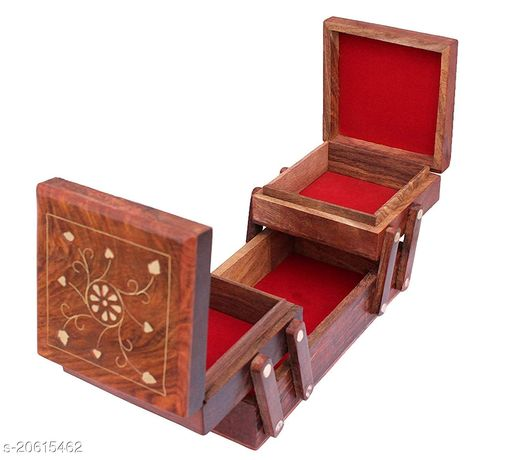 Wooden Jewellery Box for Women   Jewel Organizer Box Hand Carved Carvings, (8 inches) Gift Items