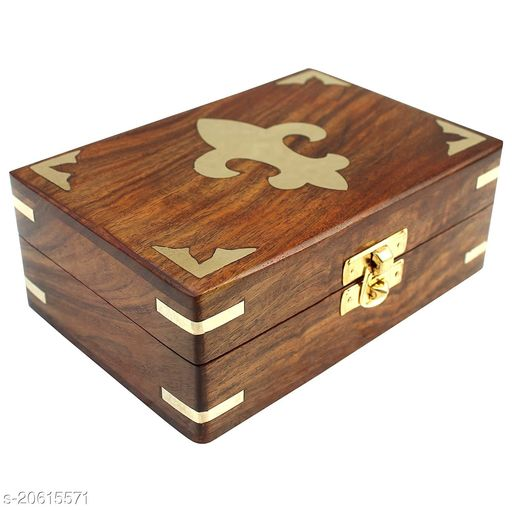 Wooden Jewellery Box for Women Jewel Organizer Hand Carved Carvings Gift Items