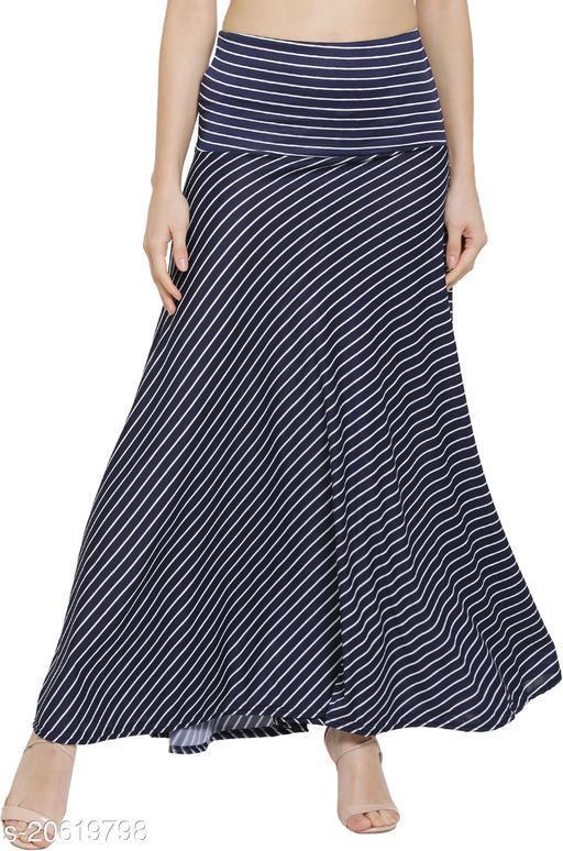 Skirt Striped Women and Girls,full length elastic waist