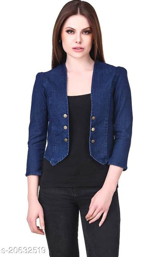 Trendy Martin Fashionable Classy Denim Shirt/Shrug For Women's/Ladies/Girl's