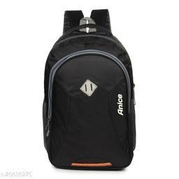 Trendy Men's Black Nylon Backpacks