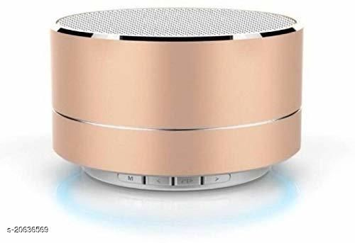 A10 Mini Portable Bluetooth Speaker with Built-in Mic & Reflective LED | HiFi Deep Bass Sound Compatible with All Smartphone Bluetooth Speaker 3 W Bluetooth Speaker (Peach)