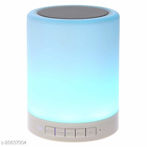 LED Touch Lamp Bluetooth Speaker, Wireless HiFi Speaker Light, USB Rechargeable Portable with TWS- Set Of 1