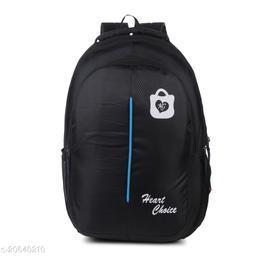 Trendy Men's Black Fabric Backpacks