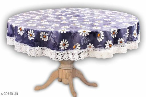 PVC Printed 4 Seater Round Dining Table Cover(60 Inches round) Design-4