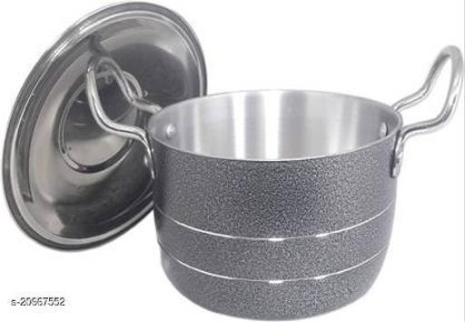 Bartan Hub Pot/Patila/Bhagona Set With Lid (2000 ML , Aluminium Made , Dishwasher Safe )