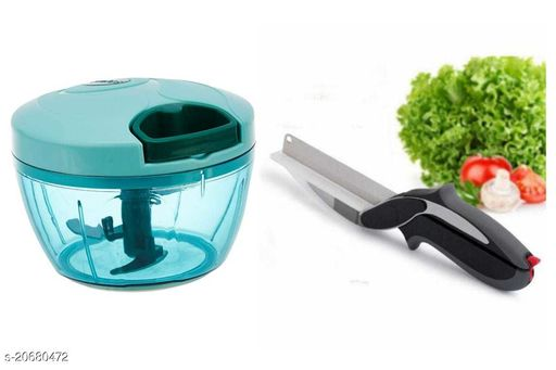 AETRIO Vagetable Chopper with Clever cutter Combo (Color may vary)