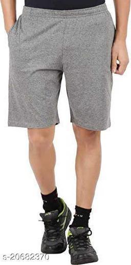 Mptiude Trendy Men's Cotton Short (Grey) Three Forth and Bermuda