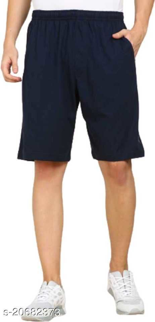 Mptiude Trendy Men's Cotton Short (Blue) Three Forth and Bermuda