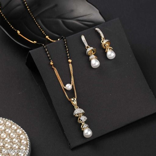 Beautiful Mangalsutras With Earrings