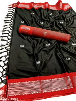 MH_Paithani_112_3D_Black & Silver Red