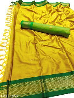 MH_Paithani_104_Mustard & Green