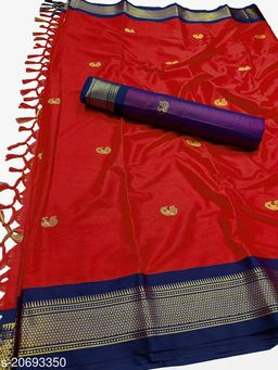 MH_Paithani_98_Red & Violet