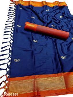 MH_Paithani_93_Navy & Orange