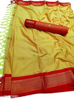 MH_Paithani_92_Yellow & Red