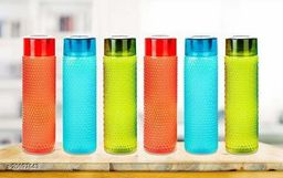 LANZ Bubble Water Bottel 1000 ml (Pack of 6,Multicolor)