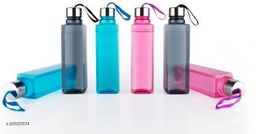 LANZ NEW SQUARE Water Bottle 1000 ml (Pack of 6,Multicolor)