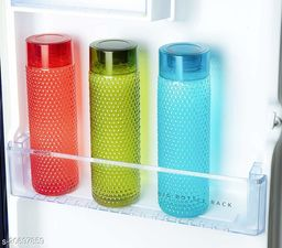 LANZ Bubble Water Bottel 1000 ml (Pack of 3,Multicolor)