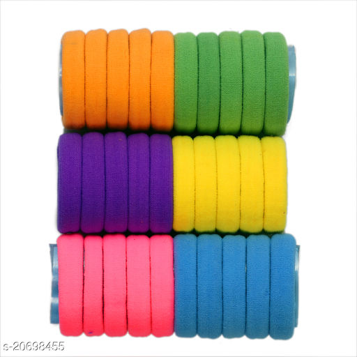 Plan Elastic Soft Hair Bands (Pack Of 30 Pc)