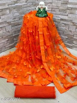 ButterFly Saree For Woman Orange