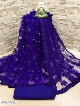 ButterFly Saree For Woman Blue