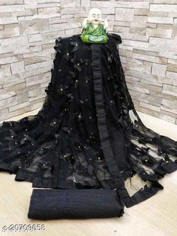 ButterFly  Saree For Woman Black