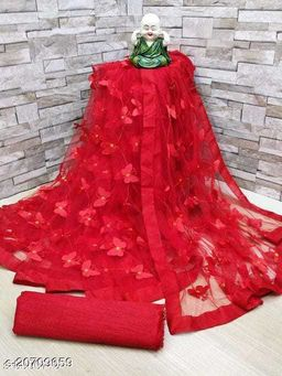 ButterFly Saree For Woman  Red