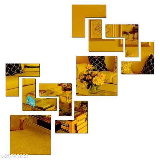 Ollivanders2 Attractive Golden 3D Acrylic Mirror Wall Sticker Code 1011 Decoration for Kids Room/Living Room/Bedroom/Office/Home Wall