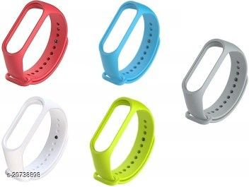 Smart Band Strap For M3/M4 (Pack of 5) (multicolor) (without watch)