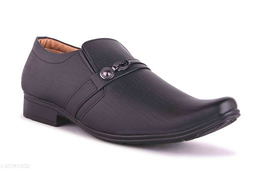 Stylish Men's Syntethic Leather Black Formal Shoes