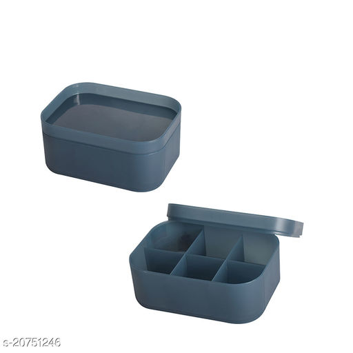 Beauty cosmectic Case Small Blue Set of 2 (With Partition)