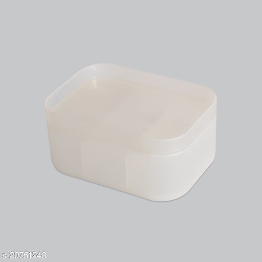 Beauty cosmectic Case Small White Set of 2 (With Partition)
