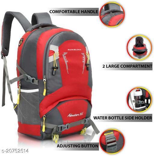 Trendy Men's Red Polyester Backpacks