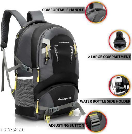Barcelona Adventure 16 Inch Laptop Backpack I Casual Bag I School Bag (Black)