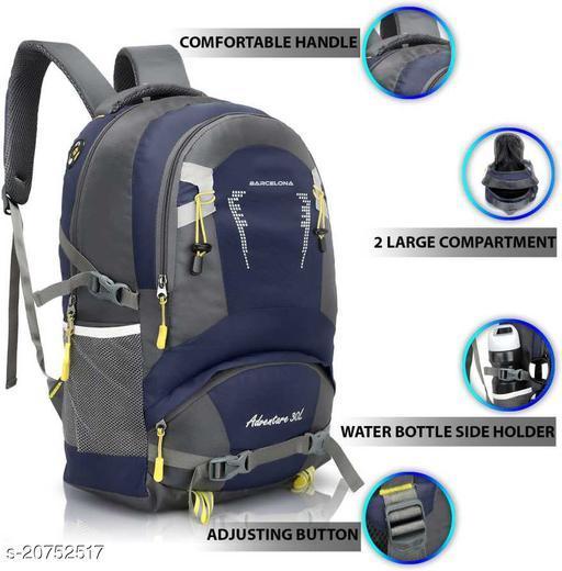 Barcelona Adventure 16 Inch Laptop Backpack I Casual Bag I School Bag (Blue)