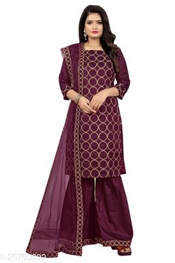 Trendy Satin Silk Sharara