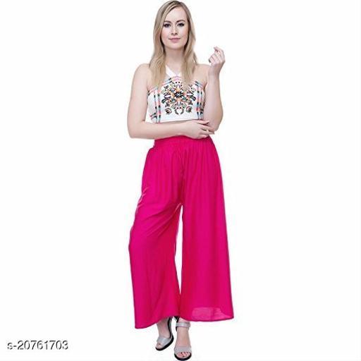 Shaurya-F Premium Quality Flared Women Dark Pink Sharara