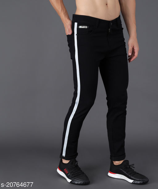 UNITED DENIM Men's Slim Fit Jeans (UD0024_Black)