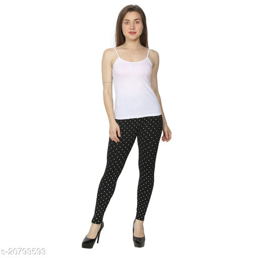 Vesture Studio's Women's Popular small dotted Soft High Waist Printed Fashion Leggings