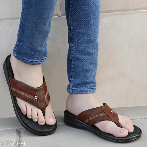 Ray J Thong Strap Flat Brown Sandal For Men