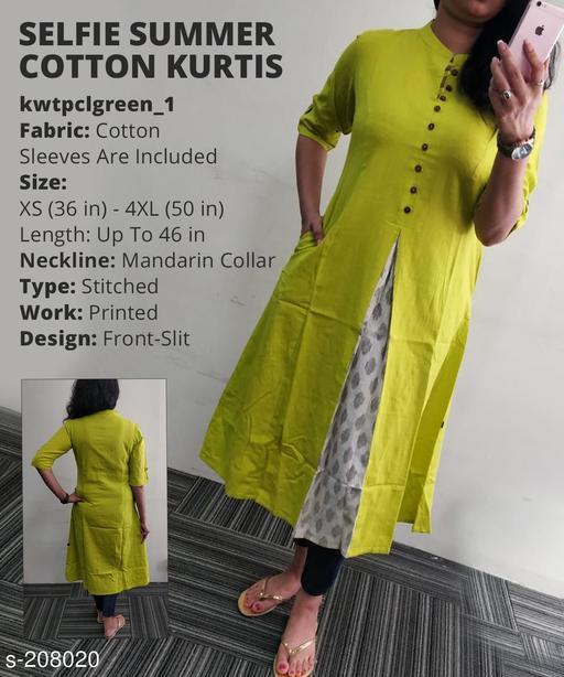 Women's Printed Cotton Blend Kurti