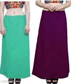 Women's Solid Petticoat Combo Pack of 2