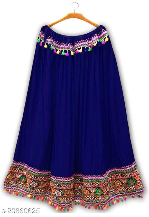 MFASHION FULLY FLARED SKIRT WITH EMBROIDERY