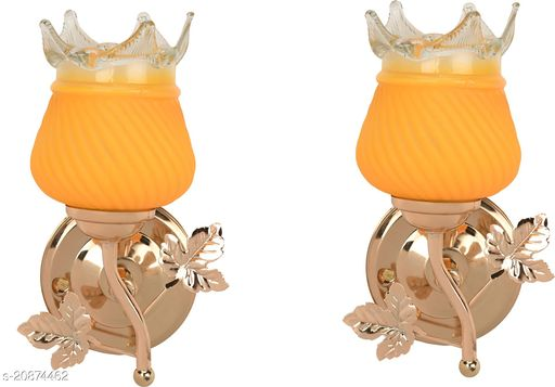 VERMA New Stylish & Decorative Golden Fitting Wall Lamp Light , Set Of Two-DF28