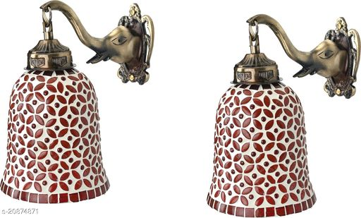 VERMA Decorative & Stylish Elephant Shape Wall Lamp Light( Set Of Two )-DD014